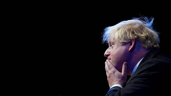 Boris Johnson addresses delegates at the Conservative Party Conference