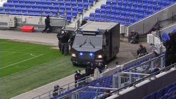 Terrorelhárítási gyakorlat Lyonban