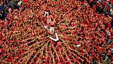 اسپانیا؛ مراسم سنتی برج انسانی کاتالونیا با چاشنی استقلال طلبی