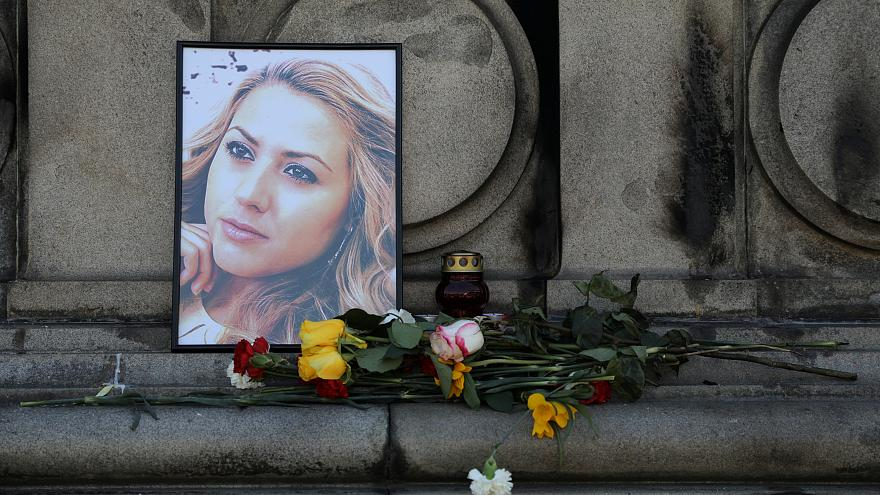A memorial for Bulgarian journalist Viktoria Marinova