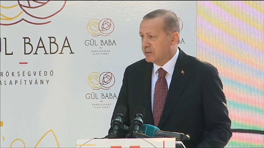 Erdoğan restore edilen Gül Baba Türbesi'nin açılışını yaptı