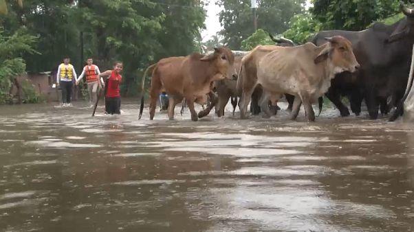 فيضانات السلفادور : مقتل ثلاثة وإجلاء 700 شخص