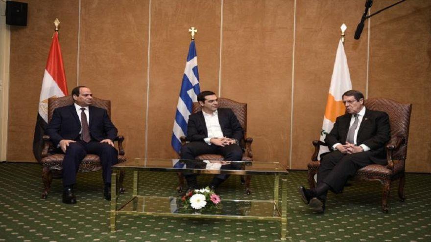 Ελούντα: Σύνοδος Κορυφής  Ελλάδας – Κύπρου – Αιγύπτου