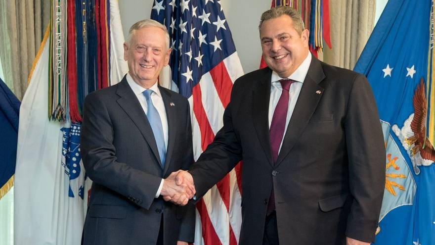 Π.Καμμένος: Ενίσχυση της τριμερούς συνεργασίας Ελλάδας-Κύπρου-Ισραήλ με συμμετοχή ΗΠΑ