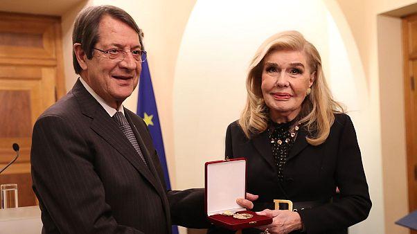 Κύπρος: Ο Πρόεδρος της Δημοκρατίας παρασημοφόρησε τη Μαριάννα Βαρδινογιάννη