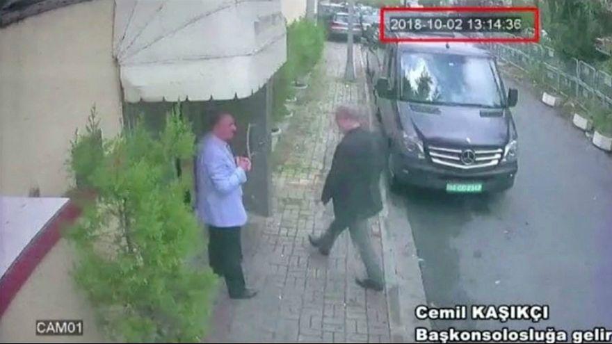 ویدئویی از خاشقجی و ۱۵ مظنون به «قتل» وی در استانبول