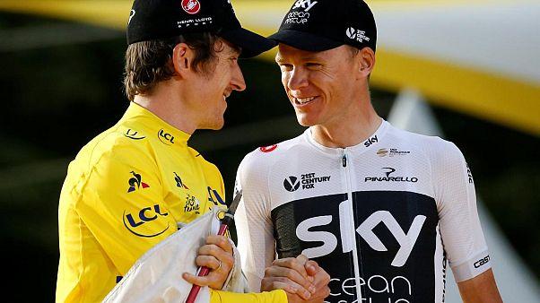 Son Fransa Bisiklet Turu şampiyonu Greaint Thomas kupasını çaldırdı