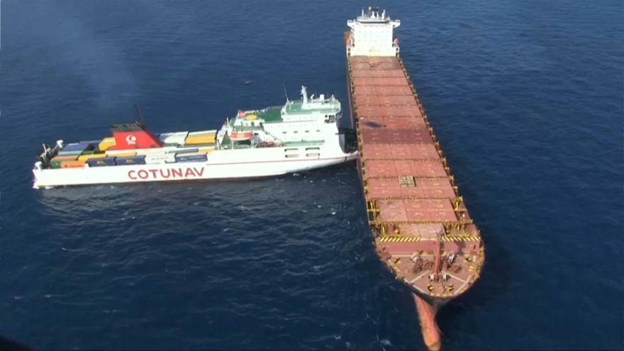 Collision : 600 tonnes de fioul au large du Cap Corse