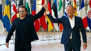 Боно воспевает Европу