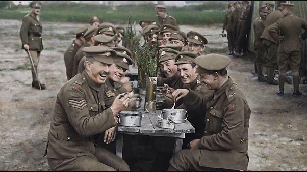 I. Dünya Savaşı'ndan orijinal görüntüler Oscarlı yönetmenin gözünden beyaz perdede