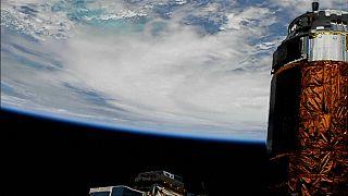 """Hurrikan """"Michael"""" vom Weltall aus gesehen"""