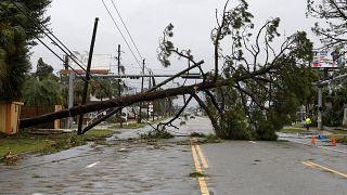 Hurricane Michael moves inland, leaving devastation behind