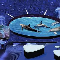 Inside the first underwater lounge