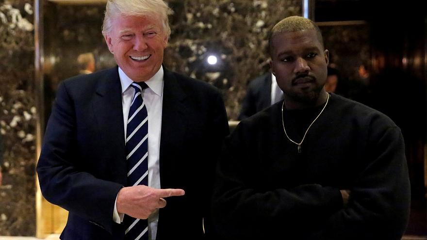 Image: Singer Kanye West and then-president-elect Donald Trump