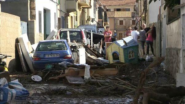 Bilder der Zerstörung: Mallorca nach dem sintflutartigen Regen