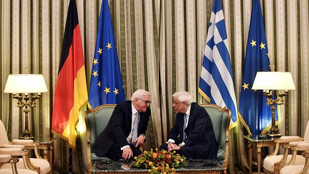 Nazi-Verbrechen Thema bei Steinmeier-Besuch: Athen will 350 Mrd. Euro von Berlin