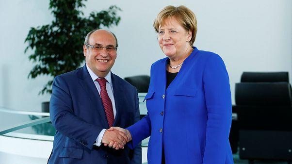 António Vitorino e Angela Merkel, em Berlim