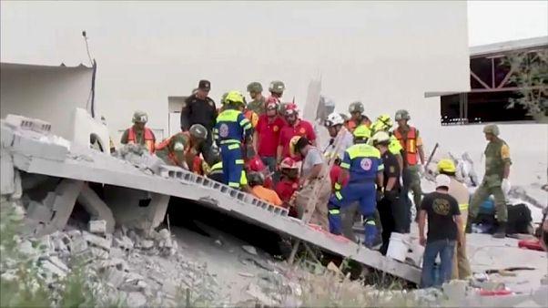Mexique : effondrement sur un chantier