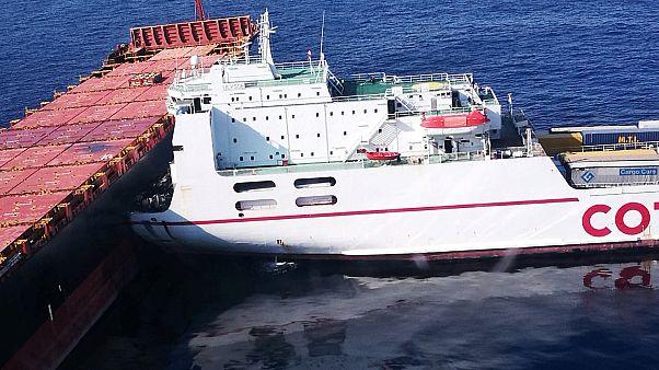 Corse : les deux navires désencastrés