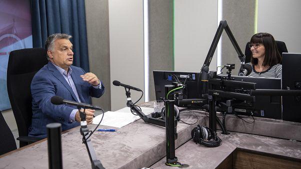 Orbán Viktor interjút ad Nagy Katalin műsorvezetőnek a Kossuth Rádióban