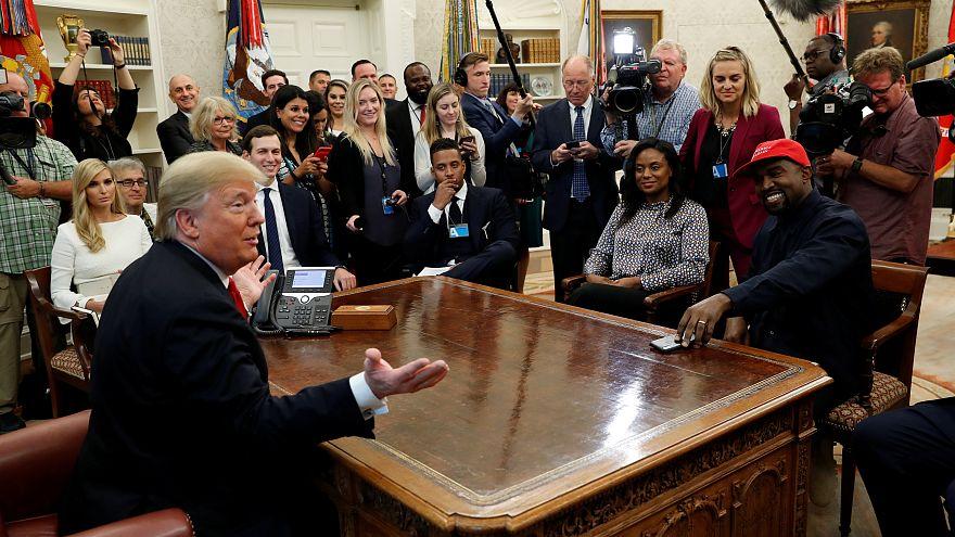 Kanye West ve Trump buluşmasında yaşanan 5 'gerçeküstü' an