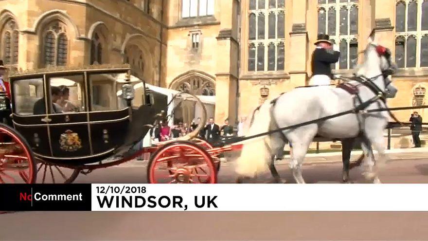 İngiltere Kraliçesi'nin torunu Prenses Eugenie dünya evine girdi