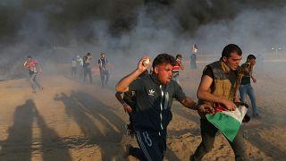 Cinco palestinianos morreram nos protestos em Gaza