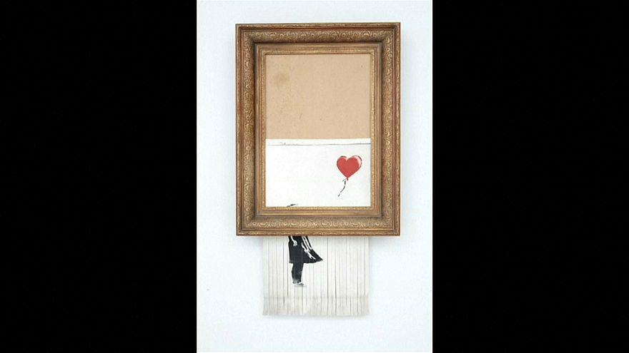 Mégis megvették Banksy ledarált képét