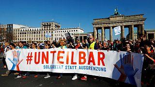 Unteilbar demostration against discrimination in Berlin