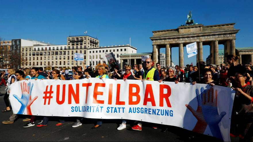 Unteilbar demostration against discrimination in Berlin