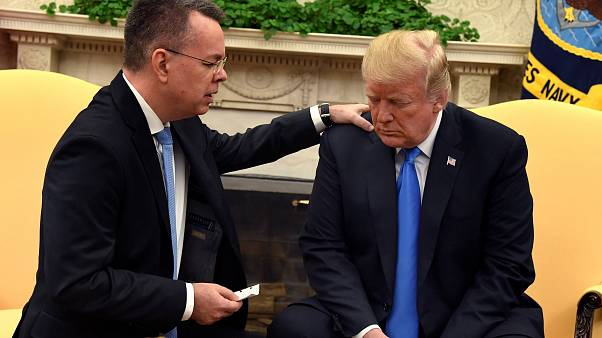 Released US Pastor in Turkey dispute meets with Donald Trump