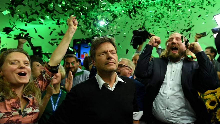 Leaders of the German Green party-Die Gruenen
