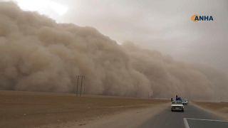 شاهد: عواصف رملية تجتاح شمال سوريا