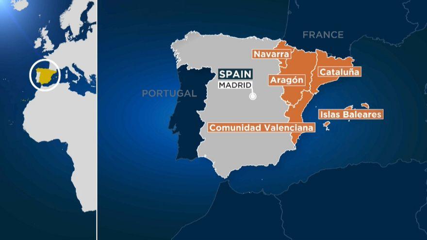 """Diez provincias españolas en alerta naranja ante la llegada de """"Leslie"""""""