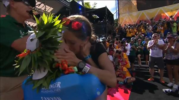 Γιόρτασε τον τίτλο του Ironman... με πρόταση γάμου