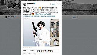 Star Wars : Mark Hammill alias Luke Skywalker begeistert von Streetart für Carrie Fisher
