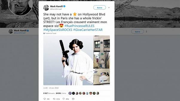 Star Wars : Mark Hammill alias Luke Skywalker begeistert von Streetart für Carrie Fisher