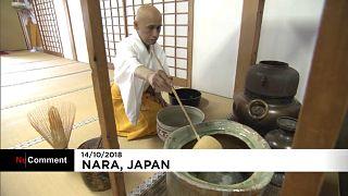 Une cérémonie du thé en grand à Nara