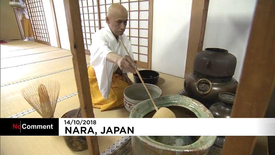 Ιαπωνία: Τσάι μέσα σε τεράστιες κούπες