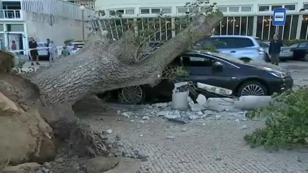 27 injured as hurricane-force winds batter Portugal
