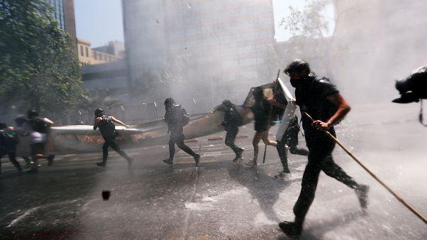 Los mapuches llenan de reivindicaciones políticas Santiago de Chile