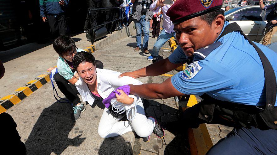 Une manifestation réprimée au Nicaragua