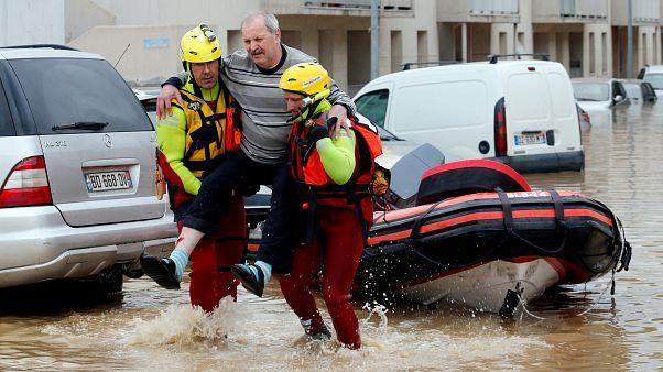 Inundações mortais no sudoeste de França