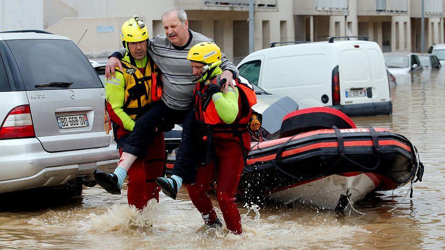 Al menos 11 personas mueren en el sur de Francia tras la llegada de 'Leslie'
