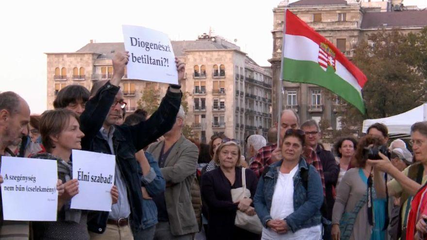 دولت مجارستان «کارتن خوابی» را جرم میداند