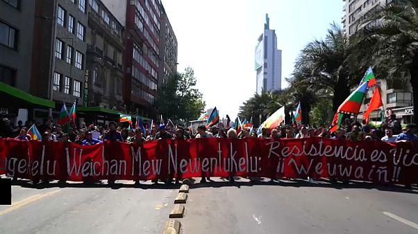 تظاهرات حمایت از بومیان در شیلی به خشونت کشیده شد