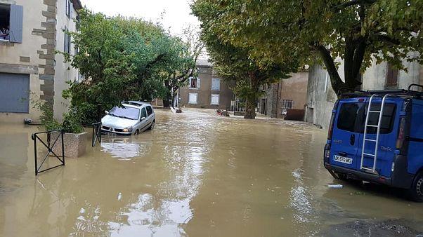 Жители юга Франции пострадали от мощного наводнения