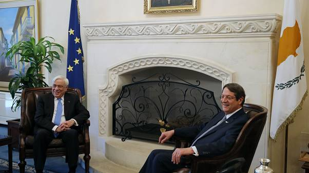 Οι ΠτΔ Ελλάδας - Κύπρου, Παυλόπουλος και Αναστασιάδης στη Λευκωσία (αρχείο)