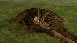 VİDEO | Norveç'te arkeologlar toprak altında Viking gemisi buldu