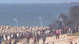 Gazze Şeridi'ndeki eylemlerde yine silah sesleri duyuldu